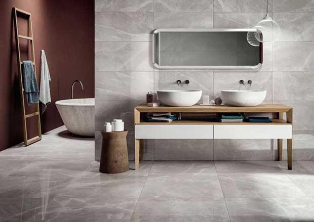 Tendenze arredamento design 2017 viviconstile - Bagno effetto marmo ...