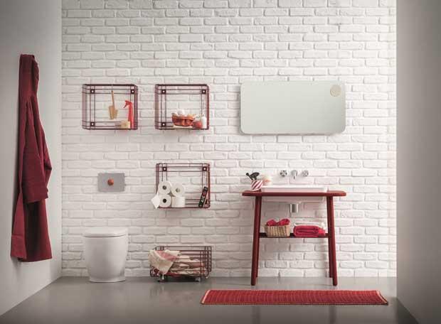 Arredare con stile un piccolo bagno di servizio e la - Bagno di servizio con lavanderia ...