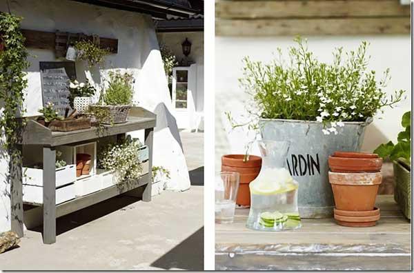 Come arredare il giardino in stile shabby chic viviconstile for Arredare con le lanterne