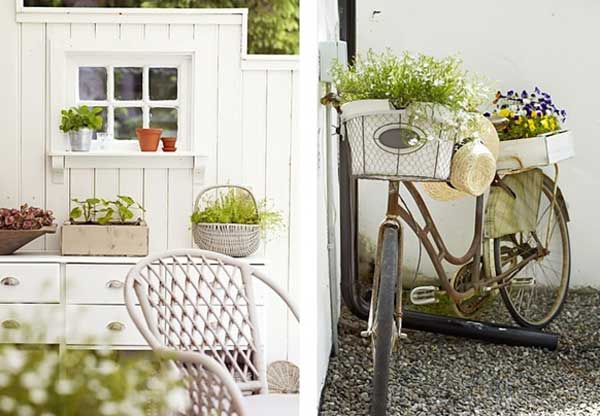 Come arredare il giardino in stile shabby chic viviconstile for Come costruire una piccola casa a buon mercato