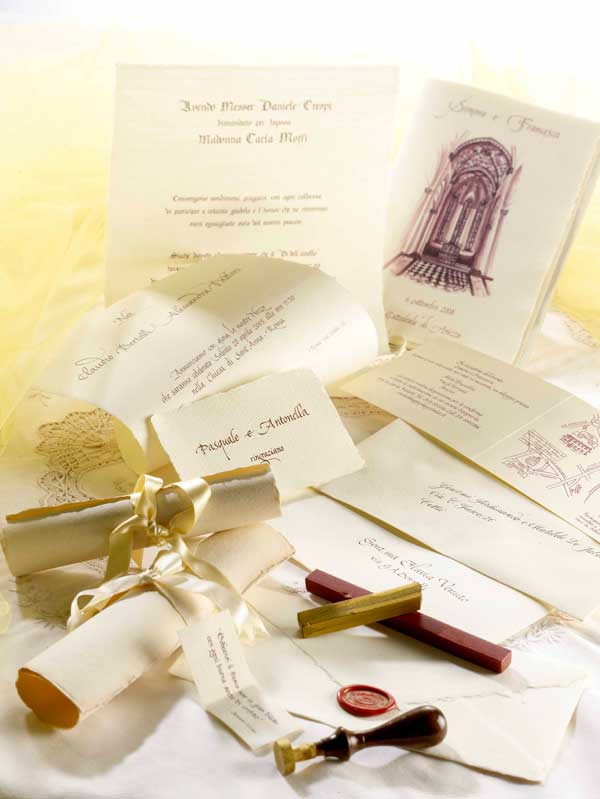 Ben noto Partecipazioni di nozze - l'arte de L'Antica Bottega Amanuense  EK73