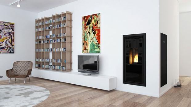Stufe a pellet il giusto design per riscaldare la casa con stile viviconstile for Poele a granule encastrable cheminee