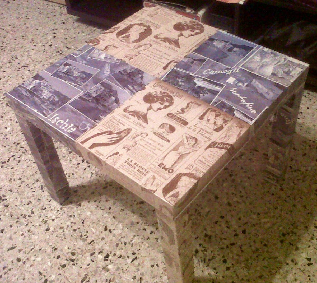 Lezioni di d coupage viviconstile - Decoupage su mobili in legno ...