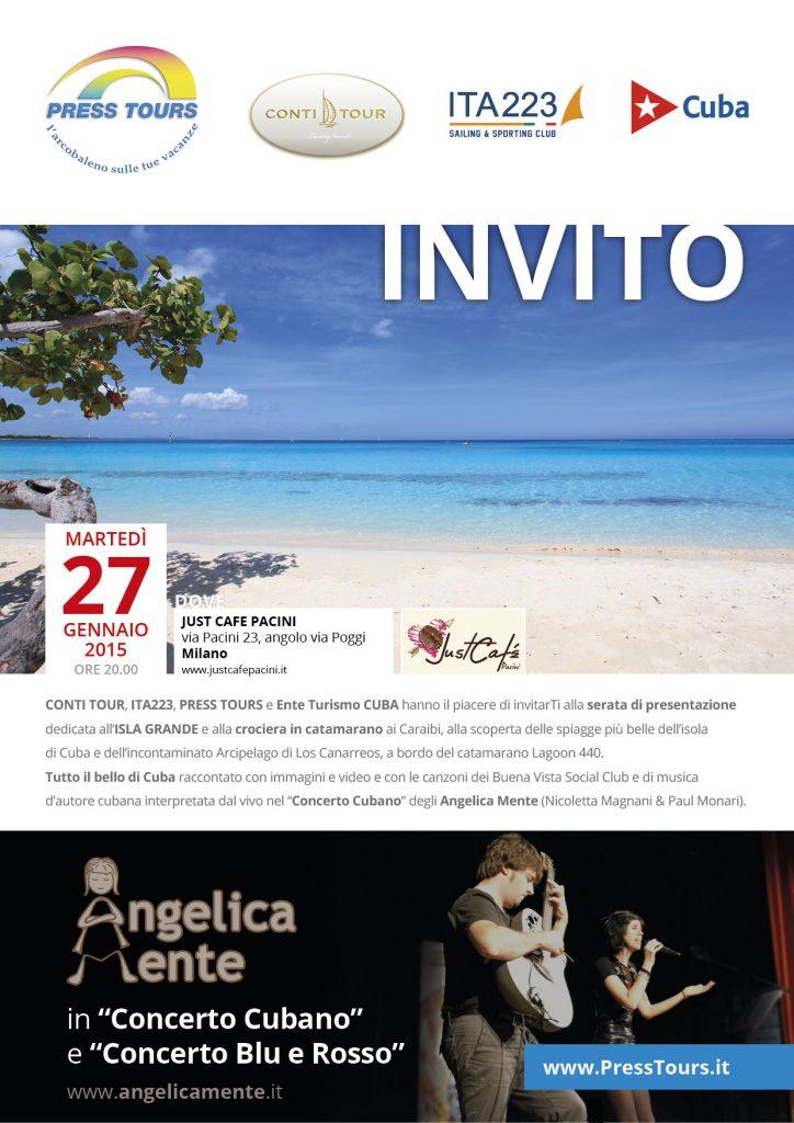 Invito serata cubana al Just Café Pacini – Milano