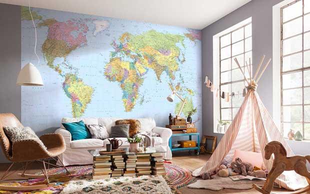 Idee di stile per arredare con mappe, cartine geografiche e altri simboli di viaggio